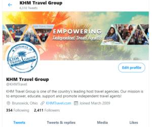 KHM Travel Twitter Profile