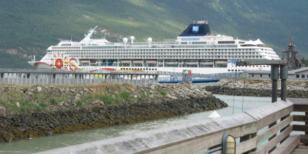 Skagway is one of the most popular stops for Alaskan cruise ships.