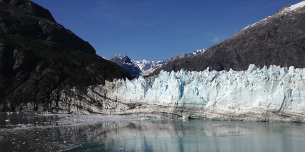 One of the many glaciers within Glacier Bay National Park