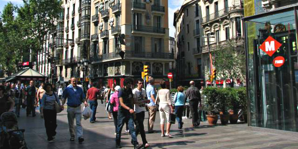 "Photo Credit: ""Barcelona-La Rambla el Raval"" by Bicloch - Own work. Licensed under CC BY 3.0 via Wikimedia Commons."