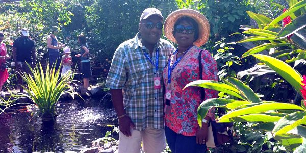 Cleopatra & her husband (and subagent!) Gerald on a FAM trip in Aruba earlier this year