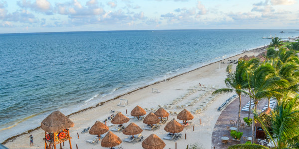 A gorgeous view of the beach at Dreams Riviera Cancun