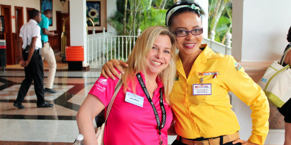Our Funjet Representative Jenny with our Jamaica Tours Limited Guide, Victoria