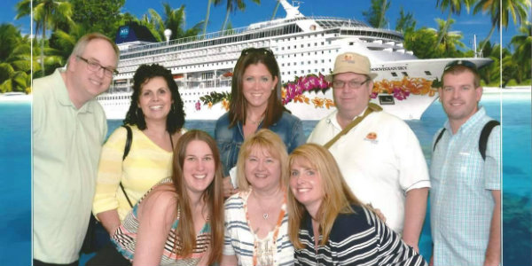 Jimmy  with a group of agents on our Crystal Awards Cruise earlier this year.