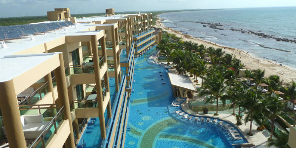 374 ft. pool with swim-up bar at Generations Riviera Maya
