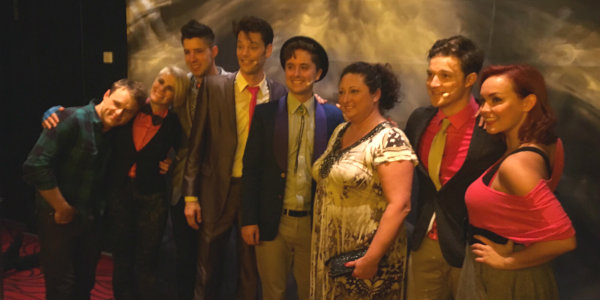 Our National Training Director Marie with the cast of After Midnight