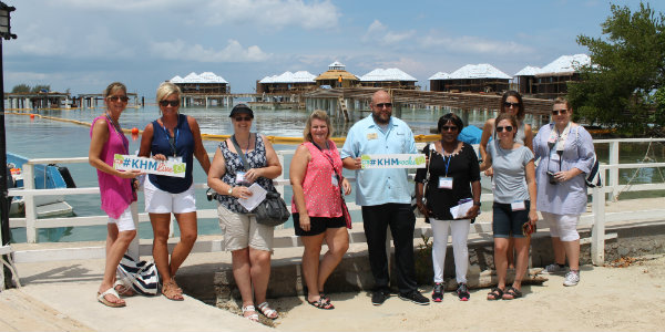 Getting a sneak peek at the overwater butler villas and their amenities gave our agents valuable first-hand information to pass along to their clients!