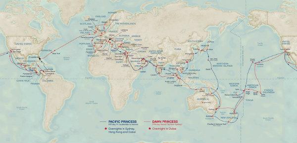 Princess Cruise world itinerary