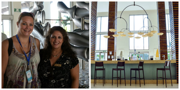 KHM Travel's Agency Trainer Beth and Apple Vacations Midwest Sales Manager Tina Tiano touring Secrets Silversands