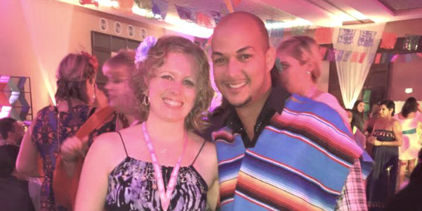 Will with LoveShack Vacations Agent Carissa at last year's Love Mexico conference in Cancun.