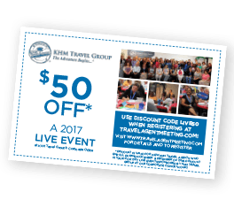 $50 off Live event in 2017