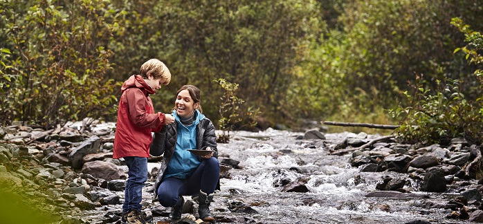 Mother And Son Panning For Gold In Juneau, Alaska