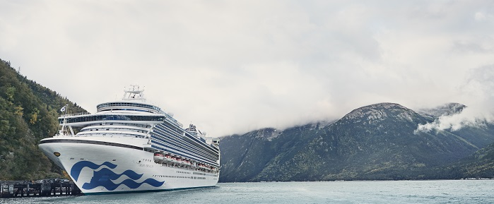 Ruby Princess In Alaska With Livery