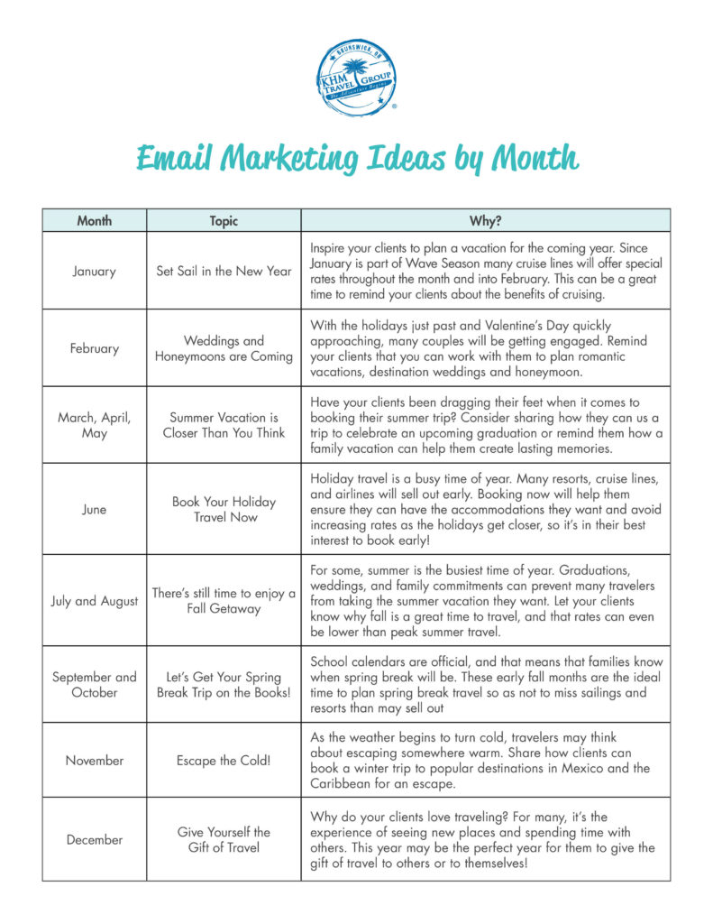 Email Marketing Calendar