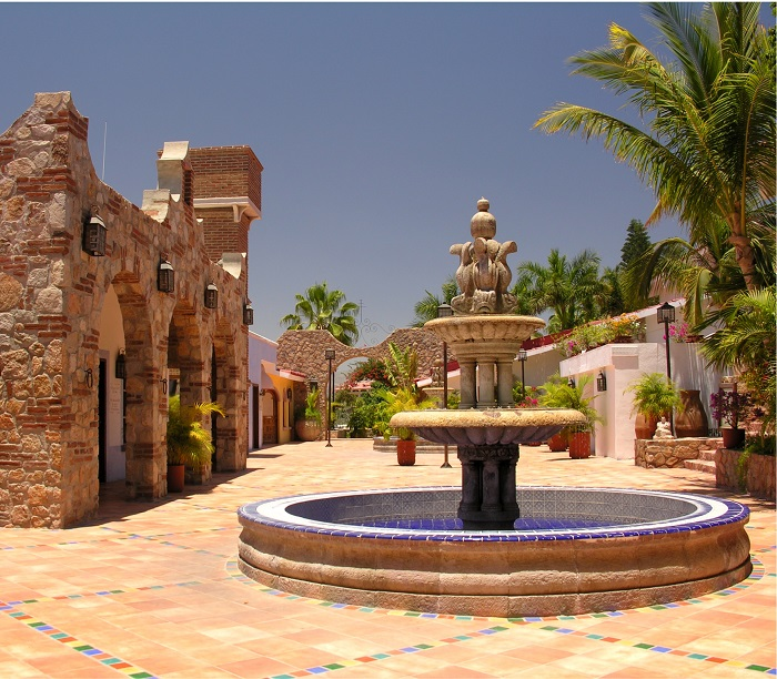Courtyard Fountain in Los Cabos, Mexico