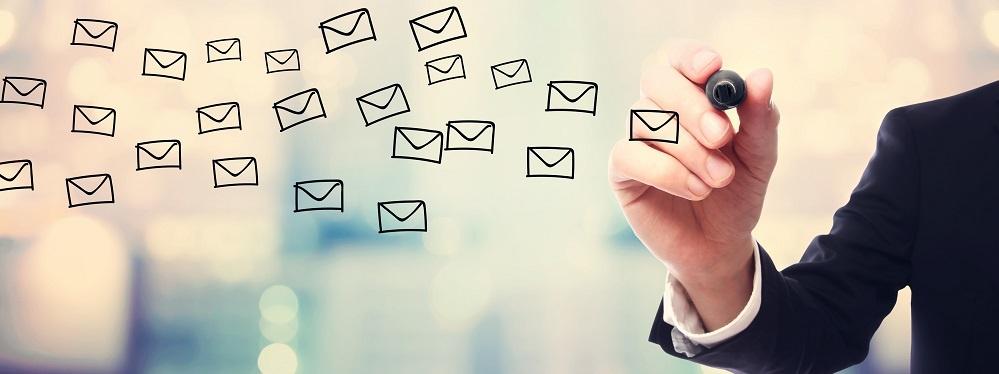 Businessman Drawing E Mails Concept