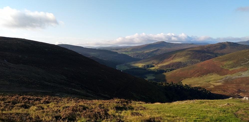 Wickow Mountains Ireland Tour Green