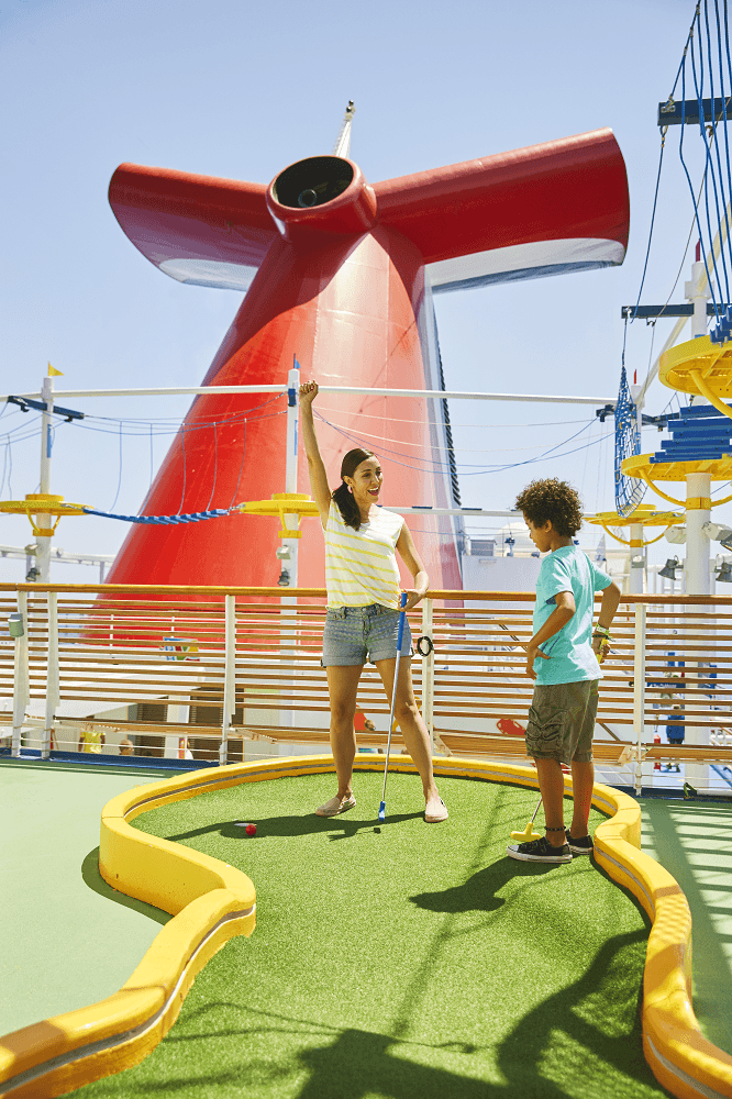 Carnival Cruise Fun Ships Family Cruising Mini Golf Activities