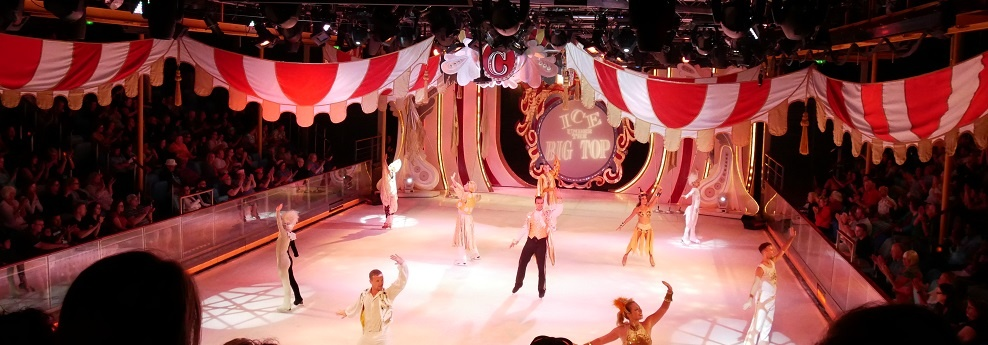 Under The Big Top Ice Skating Show Entertainment Thrills Royal Caribbean Mariner Of The Seas