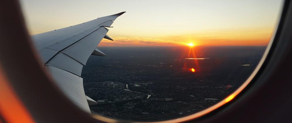 Sunset Airplane Vacation Travel