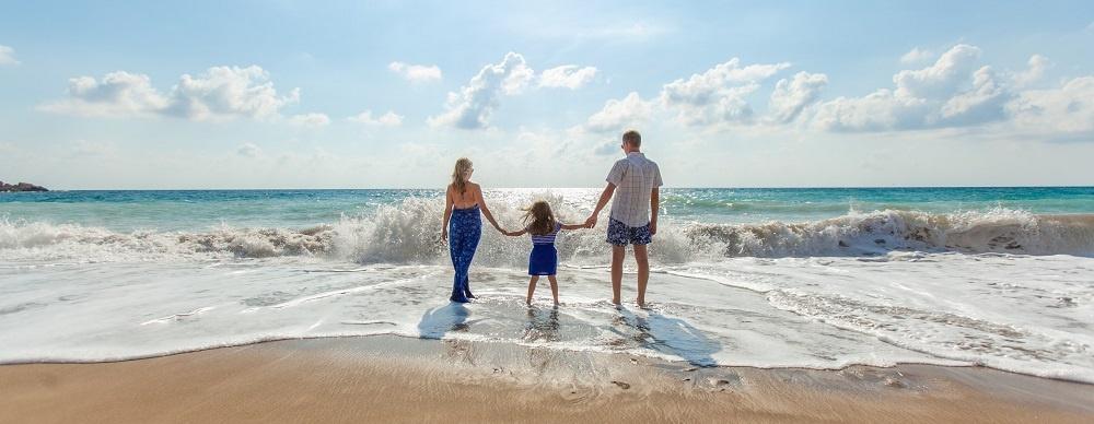 Family Beach Vacation Sun Sand Sea