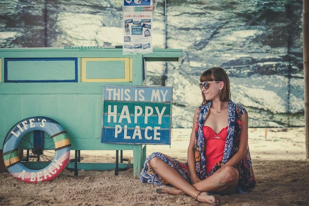 Happy Place Beach Sand Mental Health