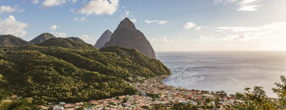 St Lucia Island View Scenery