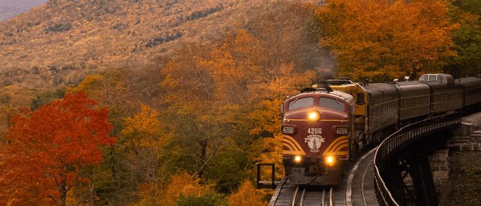 2021 Train Travel New Hampshire Fall