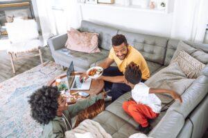 raising children love travel family living room
