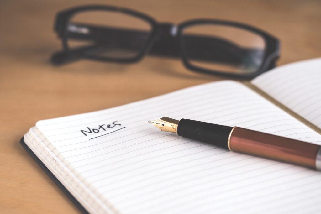 notes - notebook - journal - travel log