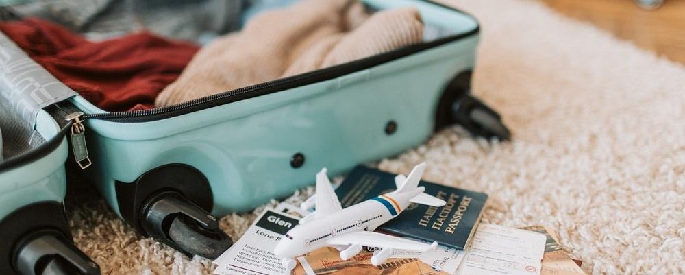 Open Suitcase Travel Documents