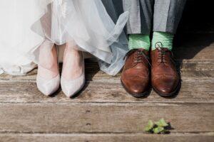 Bride Groom Wedding Attire and Shoes