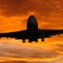 Airplane Sunset Sky